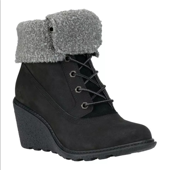 Timberland Womens Amston Roll Top Wedge 8252A Boot NWT